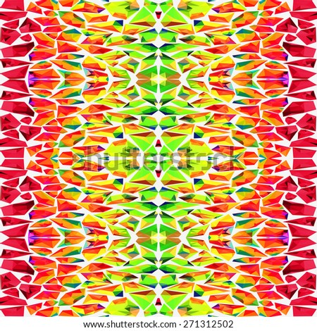 Vector bright crystals background - stock vector