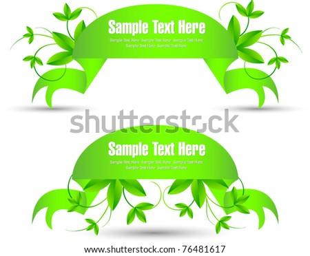 vector bright environmental banner collection - stock vector