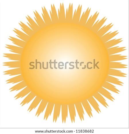 Vector Bright Hot Summer Sun - stock vector