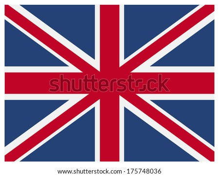 Vector British flag. Size and color of elements can be changed easily. - stock vector
