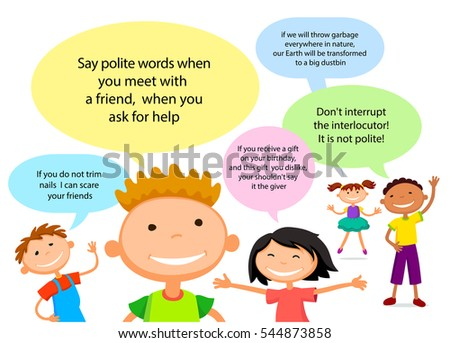 Vector Brochure Backgrounds Cartoon Children Infographic ...