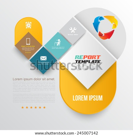 Vector brochure design template, flyer layout, magazine cover & poster template. Vector illustration. Can use for business concept template. - stock vector