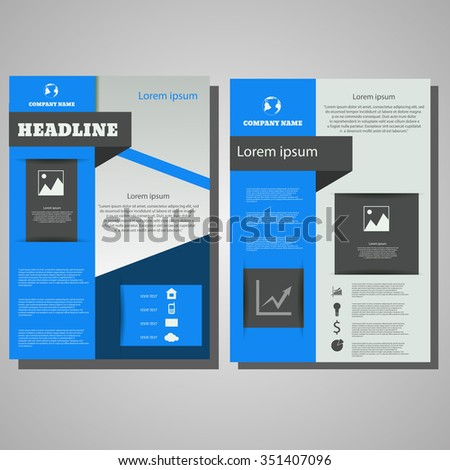 Vector Brochure Flyer blue colour design Layout template.infographic eps 10