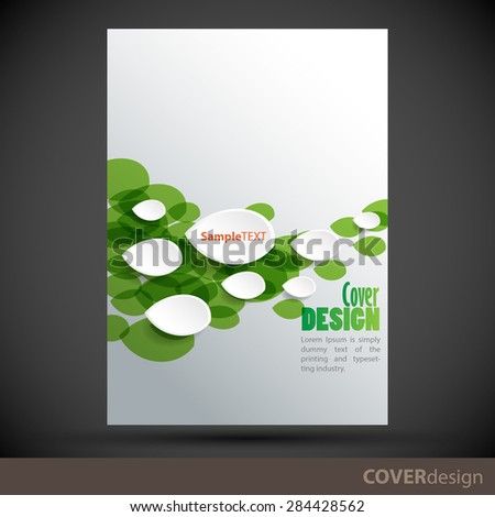 Vector brochure, flyer, cover design template. Can be used as concept for your graphic design. Proportionally for A4 size - stock vector