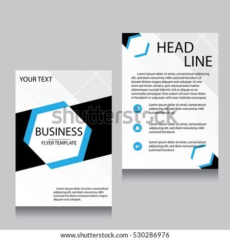 Blue annual report brochure flyer design stock vector for Brochure website templates