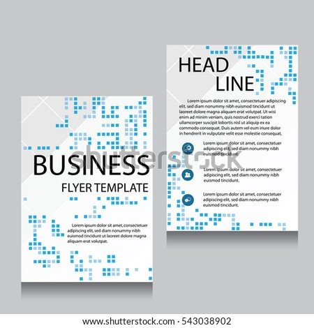Abstract vector modern flyers brochure booklet stock for Brochure website templates