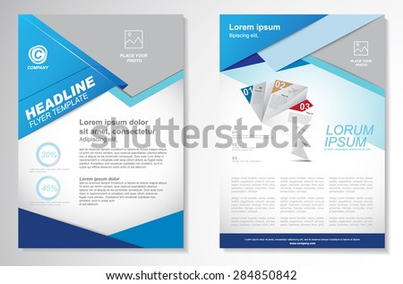 Vector Brochure Flyer design Layout template. infographic - stock vector