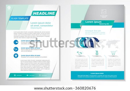 easy brochure template - flyer template stock images royalty free images vectors