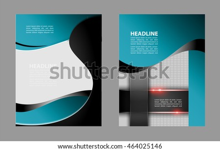 Vector Brochure Flyer design Layout template, size A4, Front page and back page, infographics. Easy to use and edit