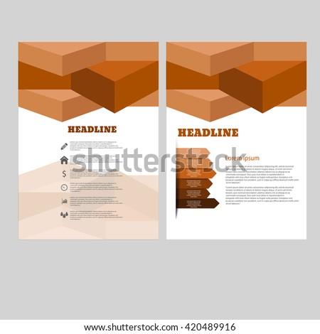 Vector brochure flyer magazine cover poster template eps 10 vector - stock vector