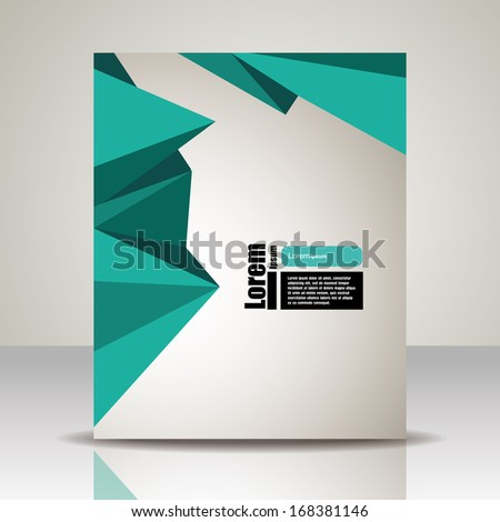 Vector  brochure, flyer, magazine cover & poster template. polygon triangle - stock vector