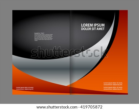 Vector brochure, flyer, magazine cover & poster template. Two ( 2 ) Pages.  - stock vector