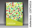 Vector brochure flyer or cover design business. Editable illustration. - stock vector