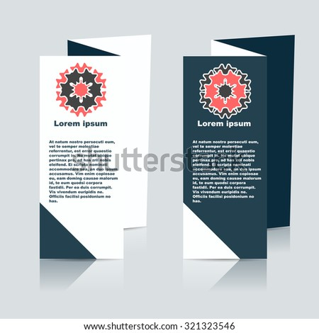 Vector Brochure Layout Design Template. EPS10 illustration - stock vector