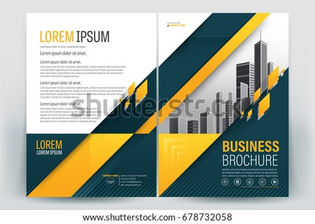 Vector Brochure Layout Flyers Design Template Stock Vector - Company profile brochure template