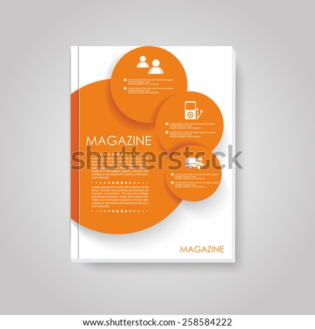 Vector brochure template design with circles elements. - stock vector
