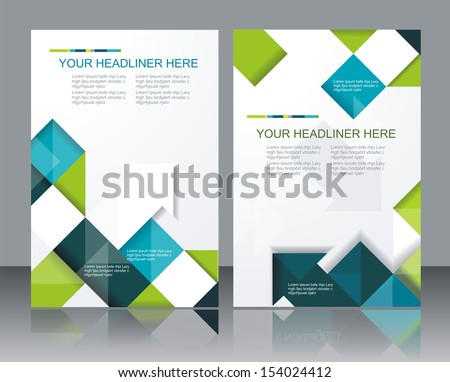 Vector Brochure Template Design Cubes Arrows Stock Vector - Brochure template ideas