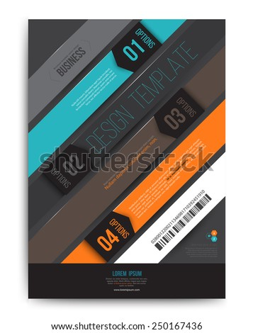 Vector brochure template design with options number. Vector illustration.  - stock vector