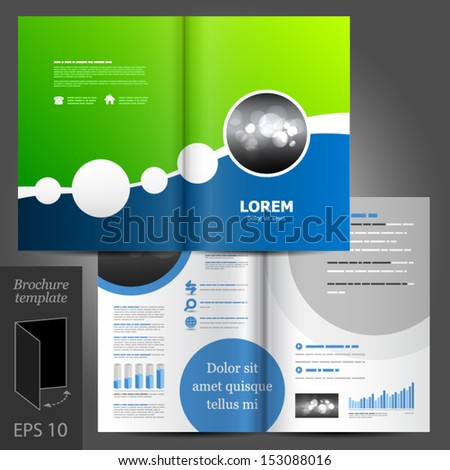 Vector brochure template design with round elements. EPS 10 - stock vector