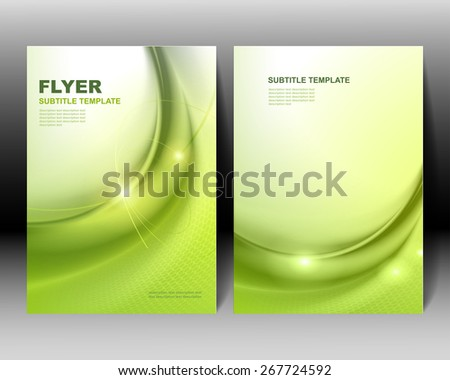 Vector brochure template green design - stock vector