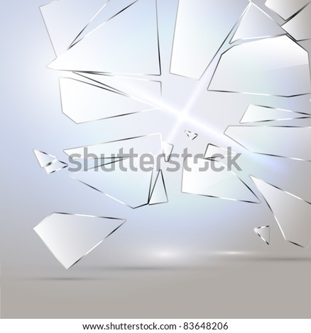 Vector Broken glass background - stock vector