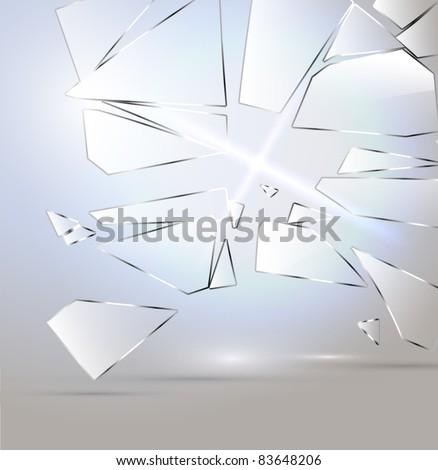 Vector Broken glass background - stock vector