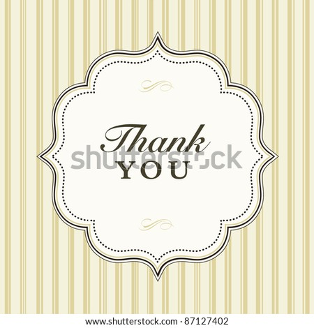 Vector Brown Striped Background and Frame. Easy to edit. Perfect for invitations or announcements. - stock vector
