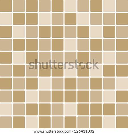 Vector brown tile wall - stock vector