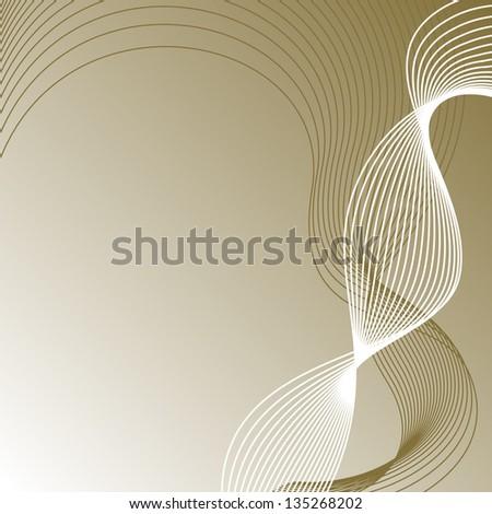 vector brown wave background - stock vector