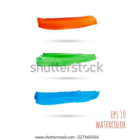 Vector brush strokes. red, green, blue. template for  banner, layout in perfumes, cosmetics, cosmetology,  delicate feminine style, visual advertising, place or space for text. pastel - stock vector