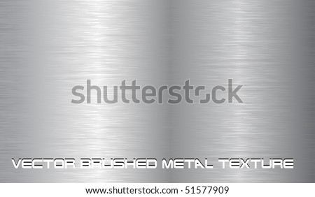 Vector brushed metal texture, EPS10 - stock vector