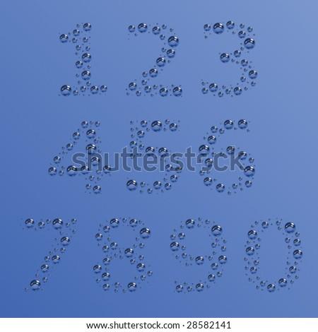 vector bubble digits - stock vector