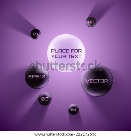 Vector bubble speech ink 3d style. - stock vector