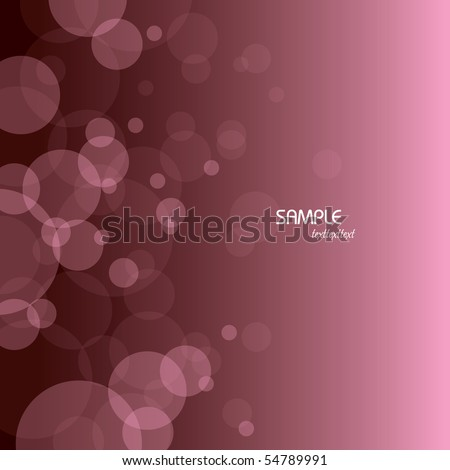 Vector Bubbles Background - stock vector
