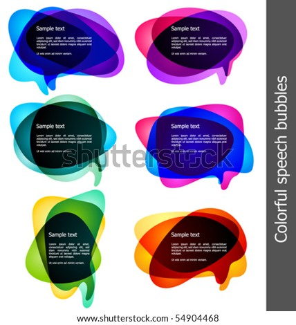 vector bubbles for speech - stock vector