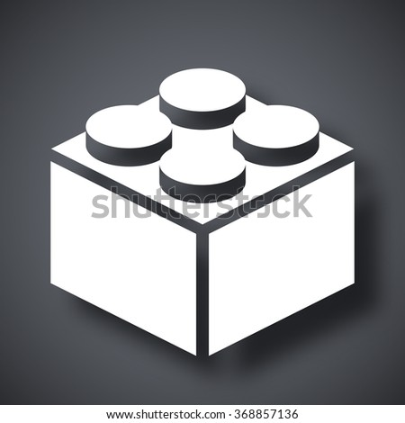 Vector building block icon