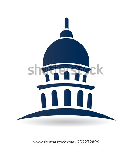 Vector building capitol building cupola temple icon design - stock vector