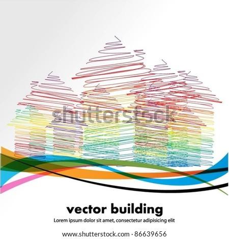 vector buildings - stock vector