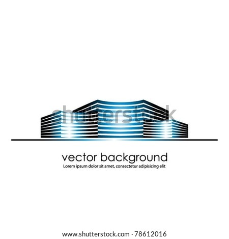 vector buildings symbol - stock vector