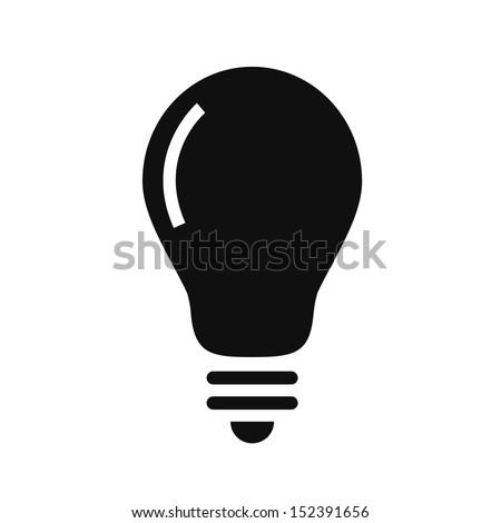 Vector Bulb Icon - stock vector
