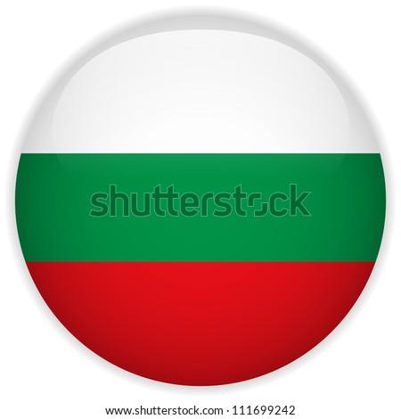 Vector - Bulgaria Flag Glossy Button - stock vector