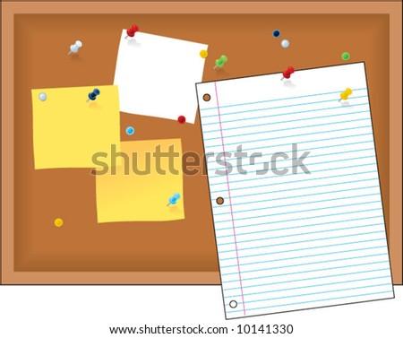 vector bulletin board - easy to edit! - stock vector