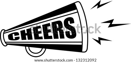 vector bullhorn symbol - stock vector