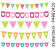 Vector bunting collection - stock vector