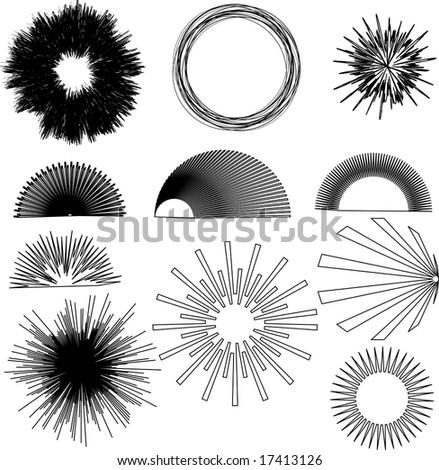 vector burst design elements - stock vector