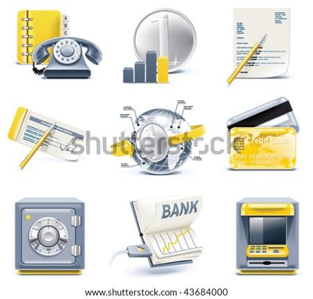 Vector business and office icons. Part 2 - stock vector