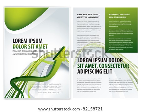 vector business brochure (booklet), flyer template - stock vector