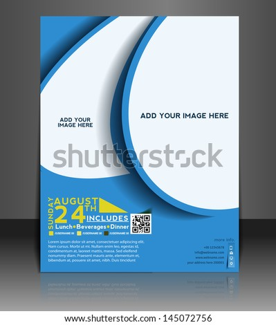 Vector business brochure, flyer, magazine cover & poster template.