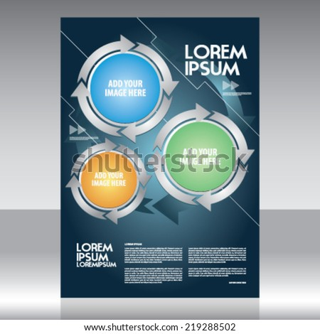 vector business brochure flyer magazine cover poster template