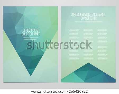 vector business brochure, flyer template, modern polygonal design - stock vector